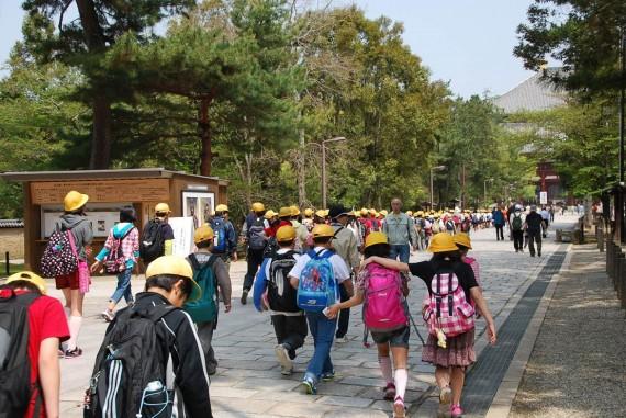 Ecoliers en visite à Nara (1)
