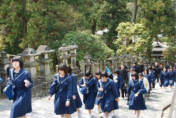 Ecoliers en visite à Nara (3)