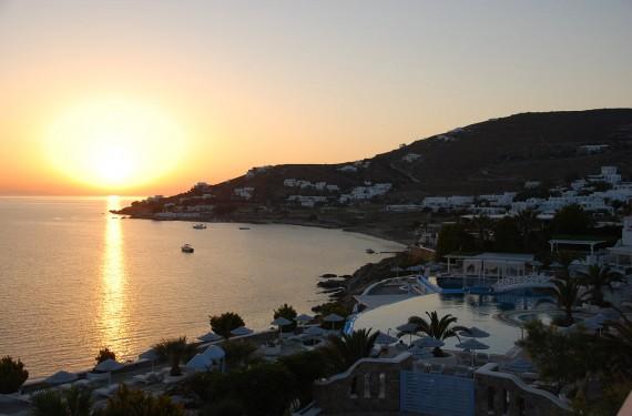 Coucher de soleil sur Mykonos (1)