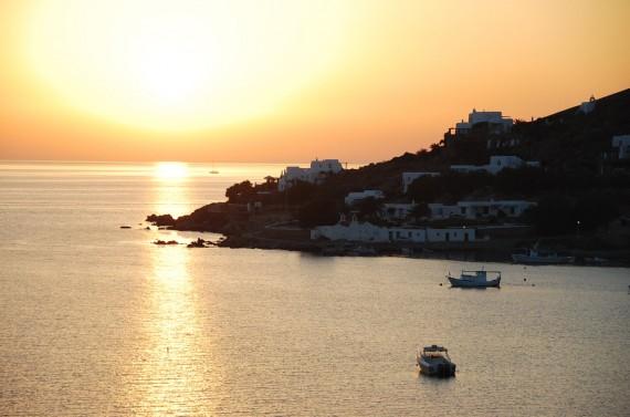 Coucher de soleil sur Mykonos (2)