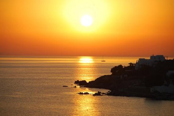 Coucher de soleil sur Mykonos (3)