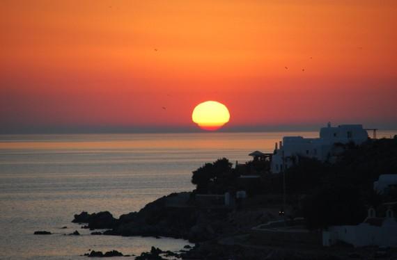 Coucher de soleil sur Mykonos (6)