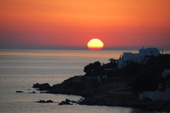 Coucher de soleil sur Mykonos (7)