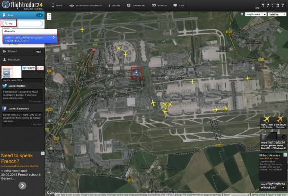 Flight radar 01