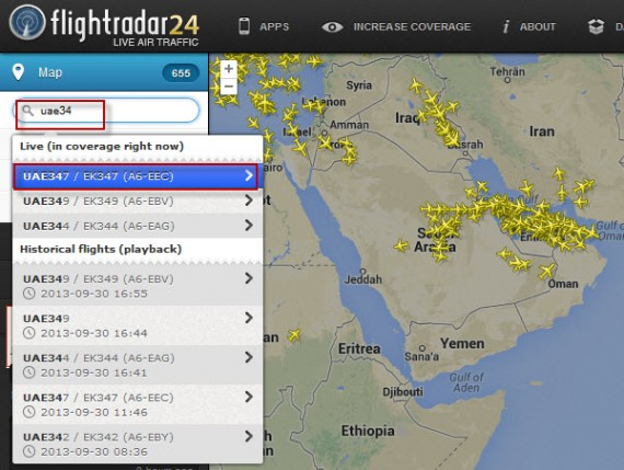 Flight radar 03