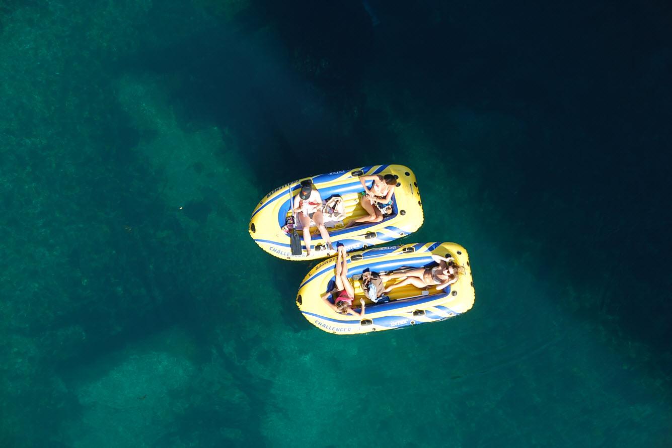 Descente du Rhone en bateau