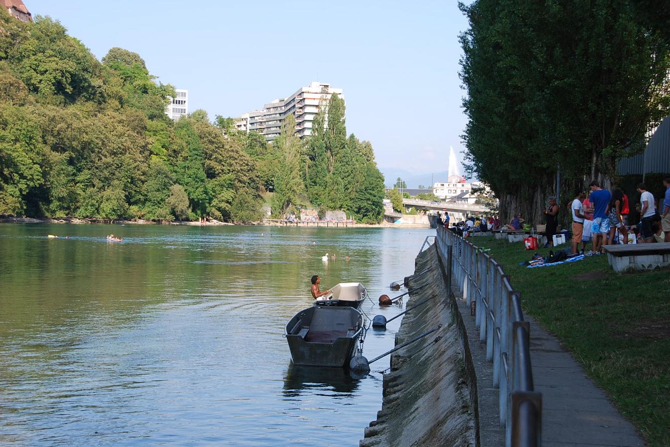 Vue sur jet eau Geneve