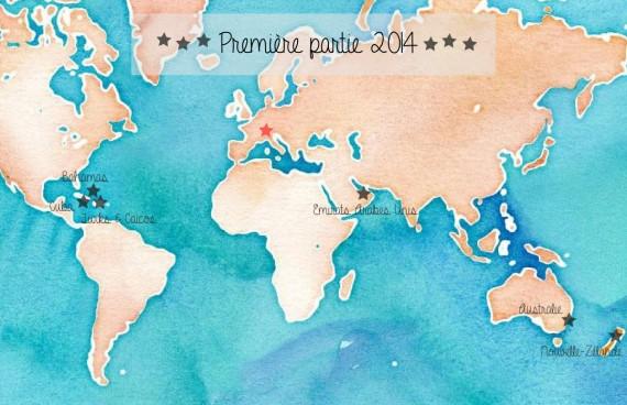 Carte voyages 2014
