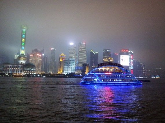 Shanghai by night Bund and Pudong (3)