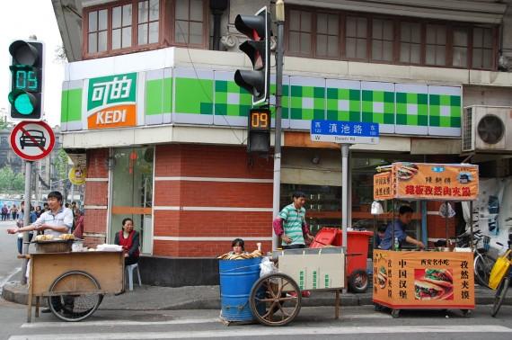 Transporteurs et marchands de rue Shanghai (5)