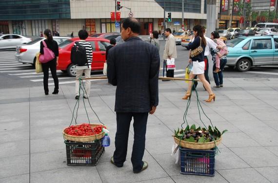 Transporteurs et marchands de rue Shanghai (6)