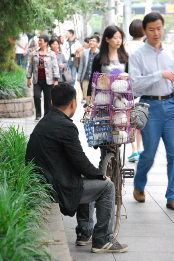 Transporteurs et marchands de rue Shanghai (7)