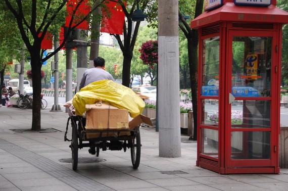 Transporteurs et marchands de rue Shanghai (8)
