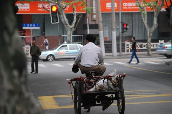 Transporteurs et marchands de rue Shanghai (9)