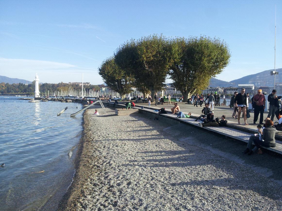 Plage Geneve Bains