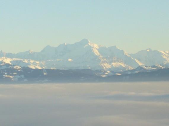 Vue sur les Alpes depuis Saint-Cergues 07