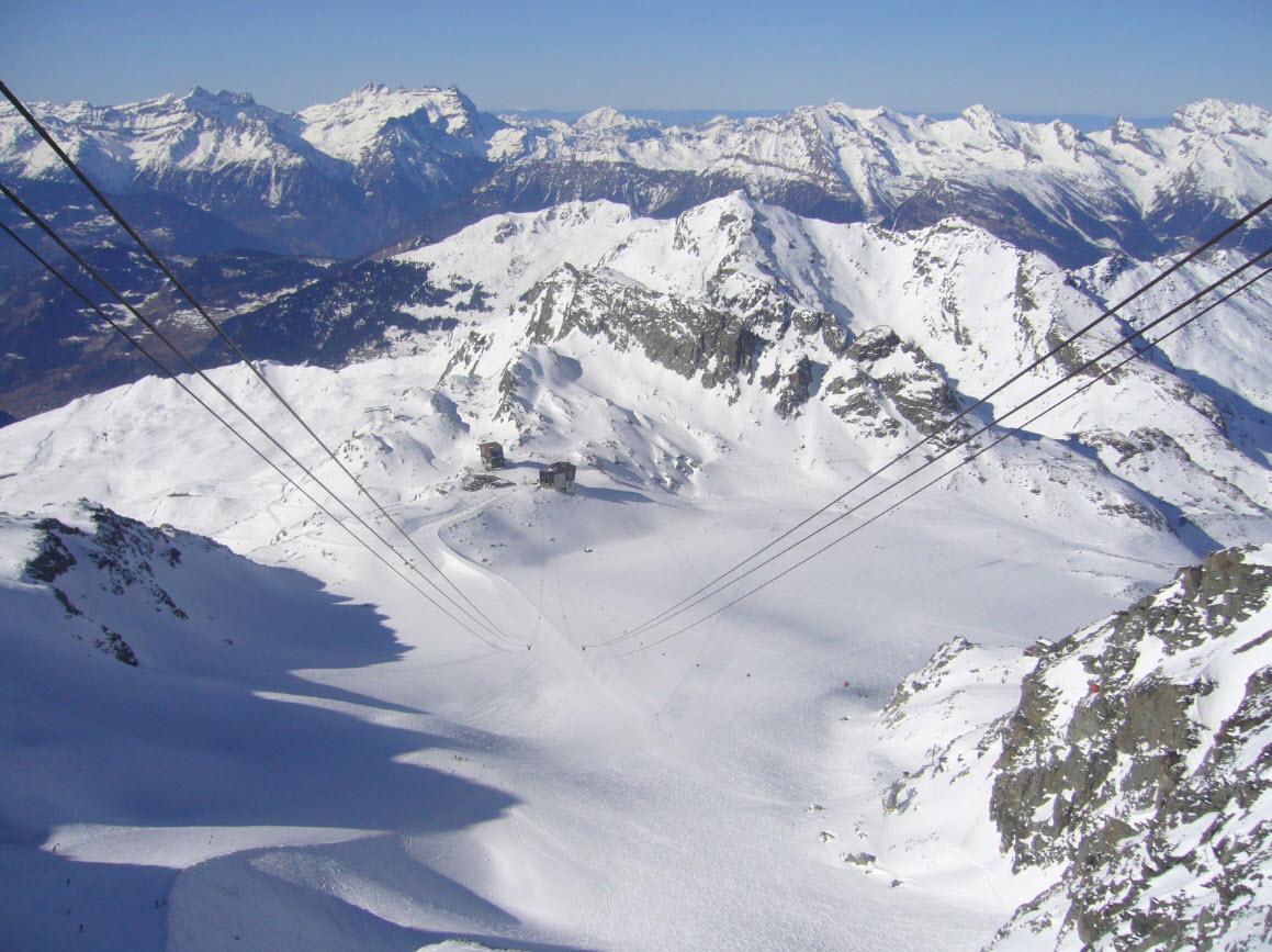 Skier depart Geneve Verbier Mont Fort