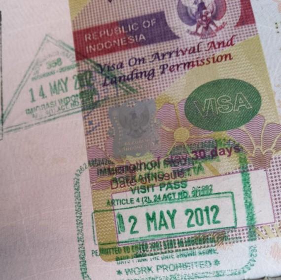 Visa Indonésie