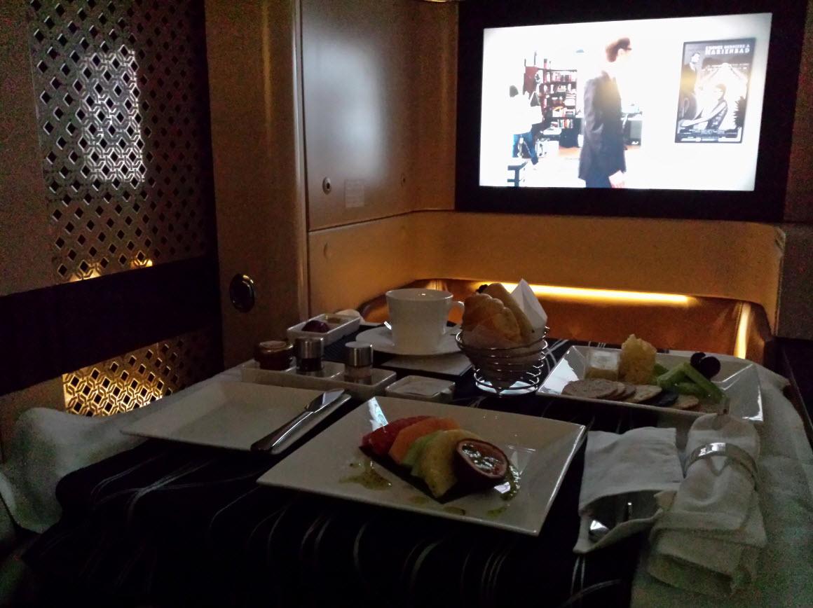 Petit dejeuner a bord