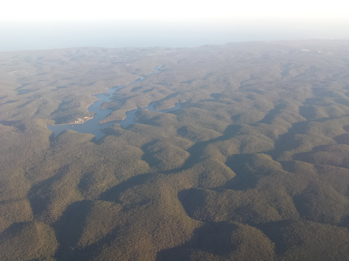 Blue Mountains vues du ciel