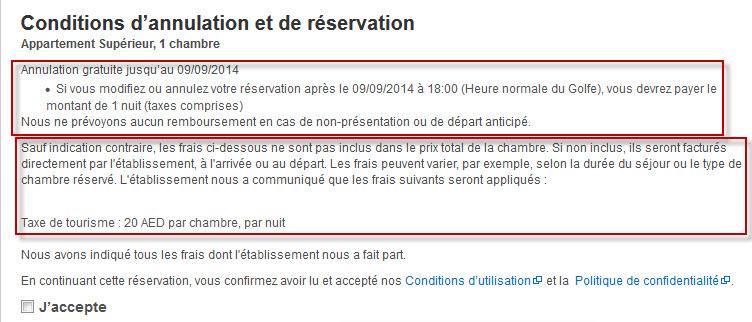 reservation hôtel annulation gratuite