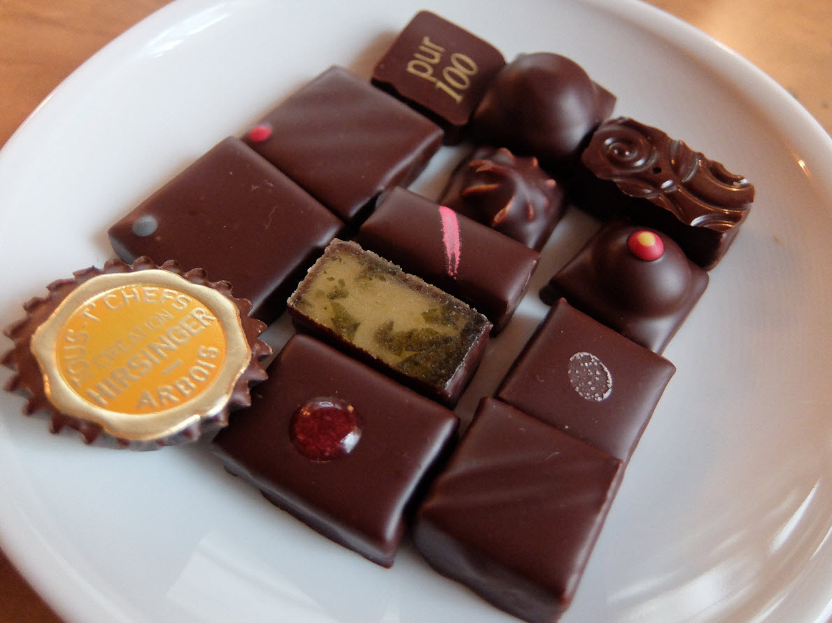 Plateau degustation de chocolats Hirsinger