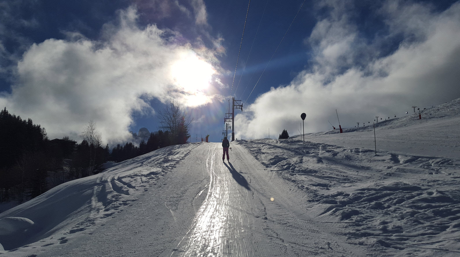 Journee de ski à Courchevel 1650