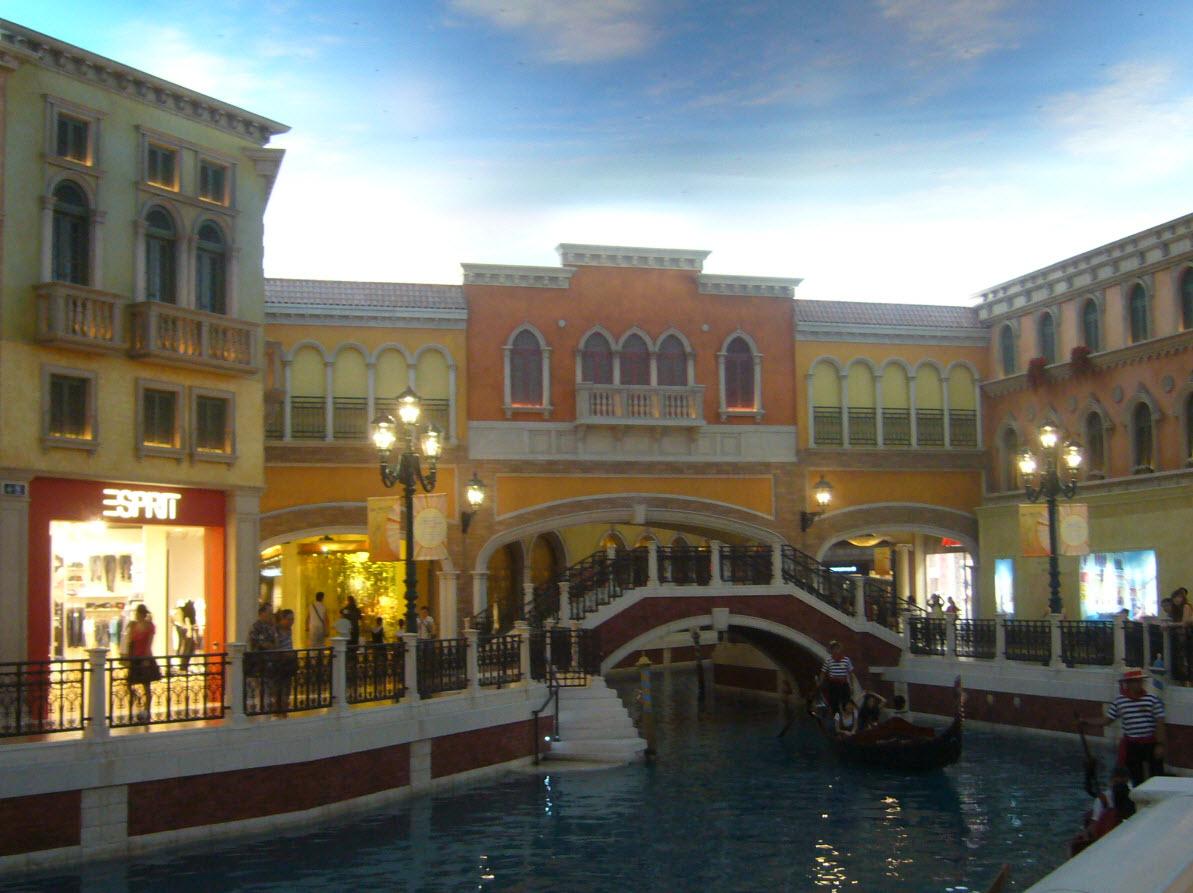 Reconstitution de Venise dans un hotel