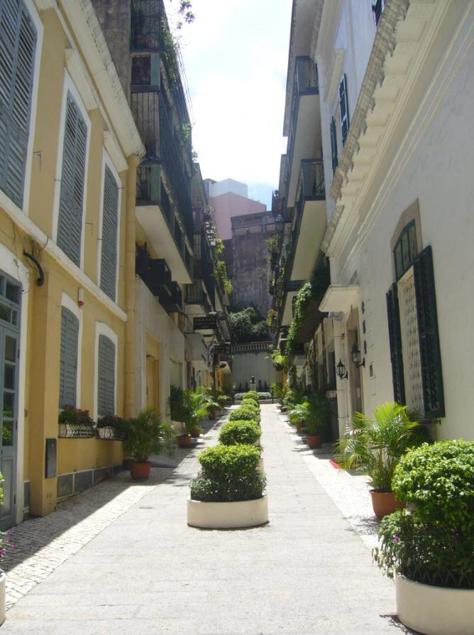 Ruelle de cette ancienne colonie portugaise