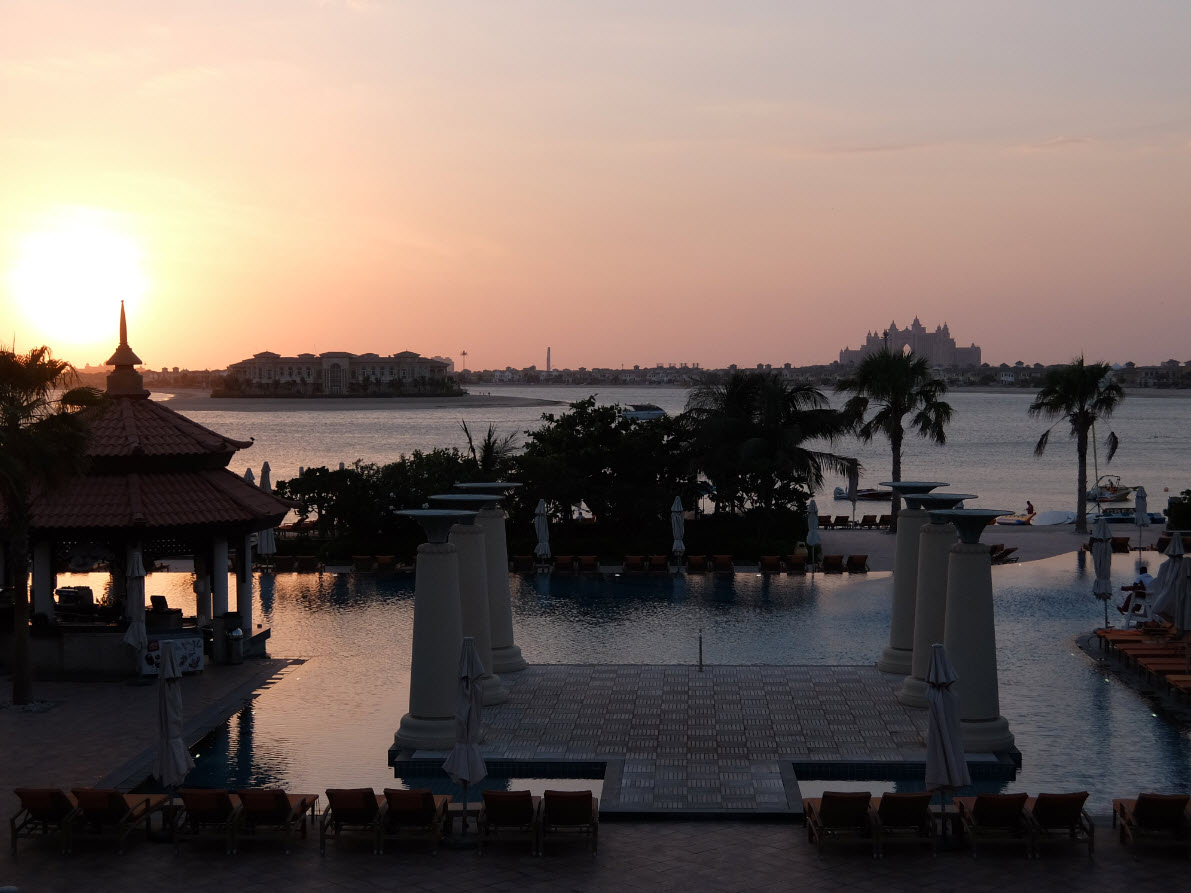 Coucher de soleil a Anantara Dubai