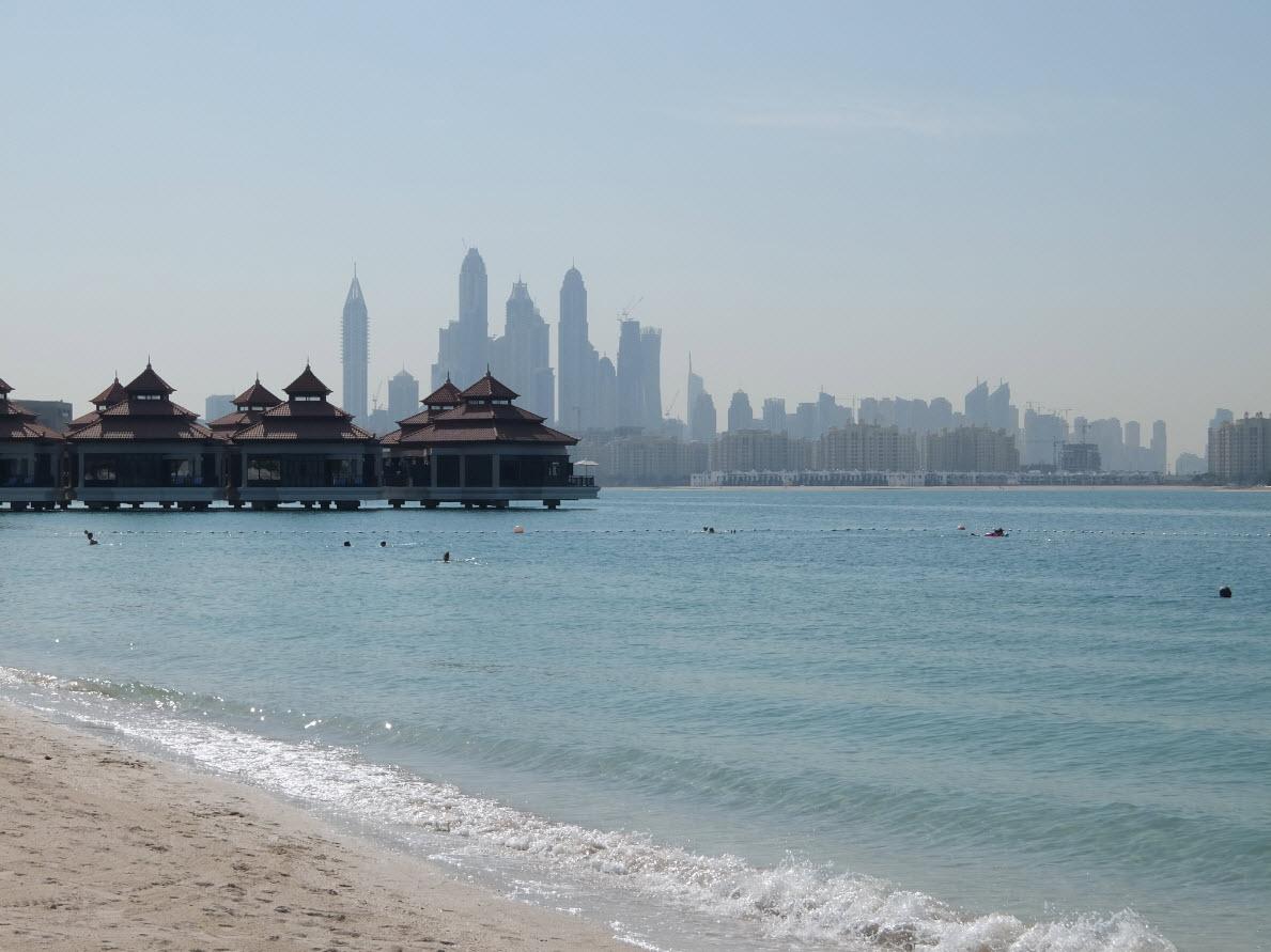 Vue sur Dubai Marina depuis The Palm