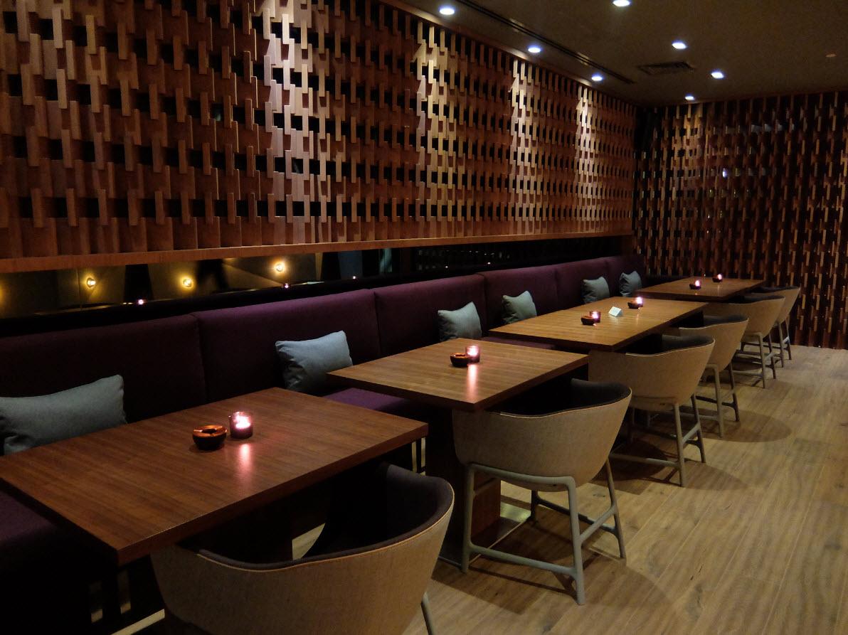 Interieur du bar Social Room Dubai Marina