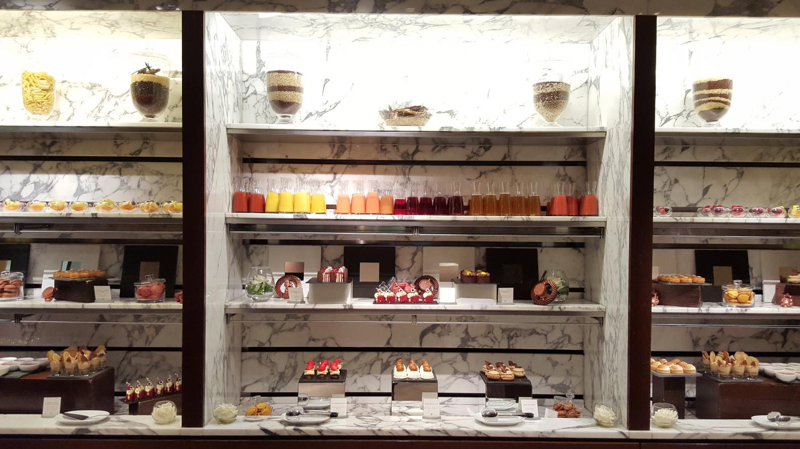 Mur des desserts