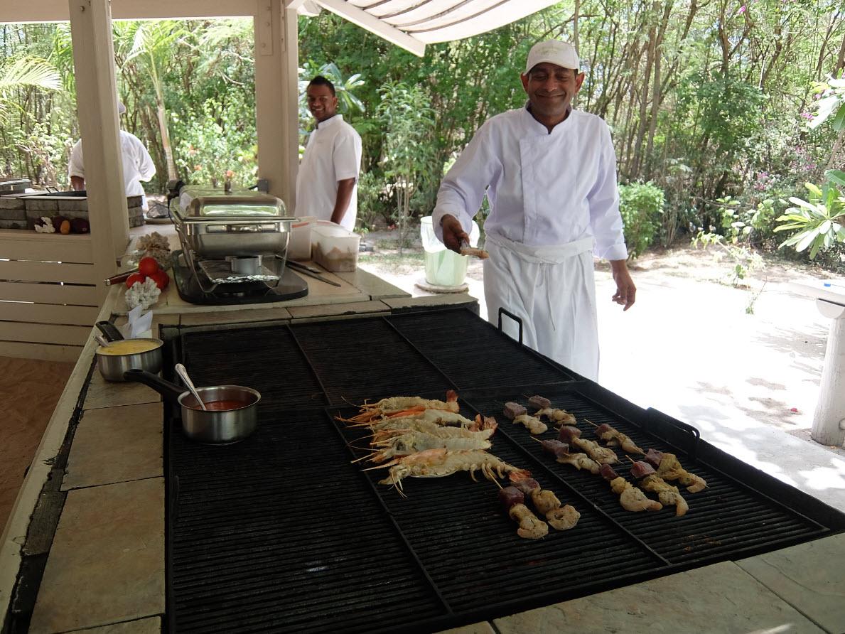 Barbecue sur la plage Maurice Ile des Deux Cocos