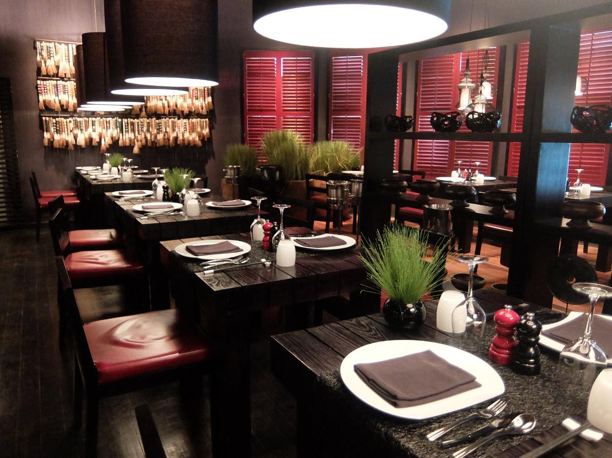 Cadre intimiste restaurant chinois