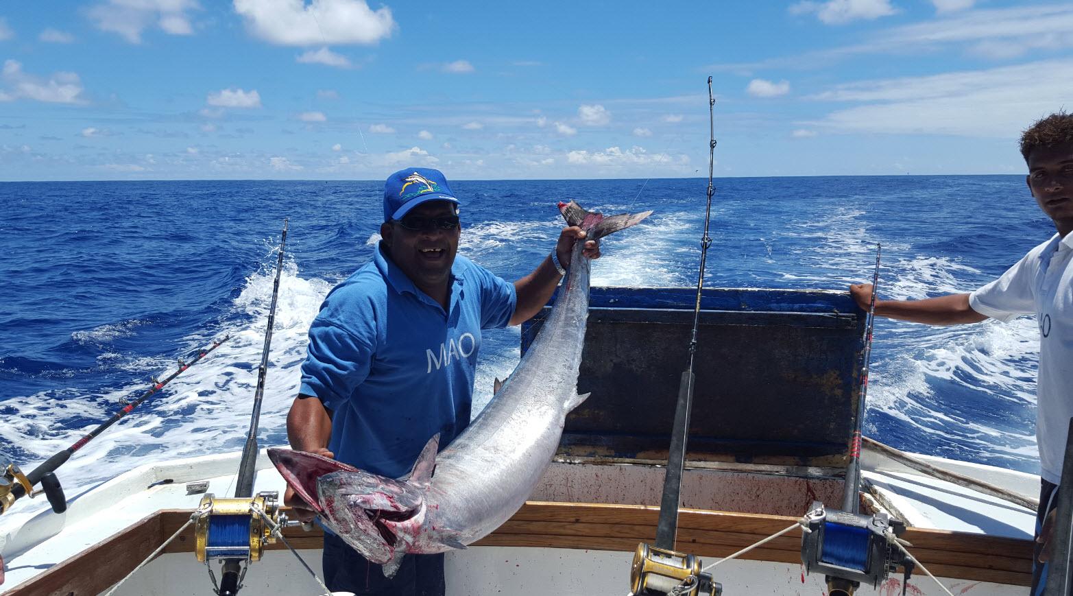Peche d'un poisson de 40 kilos