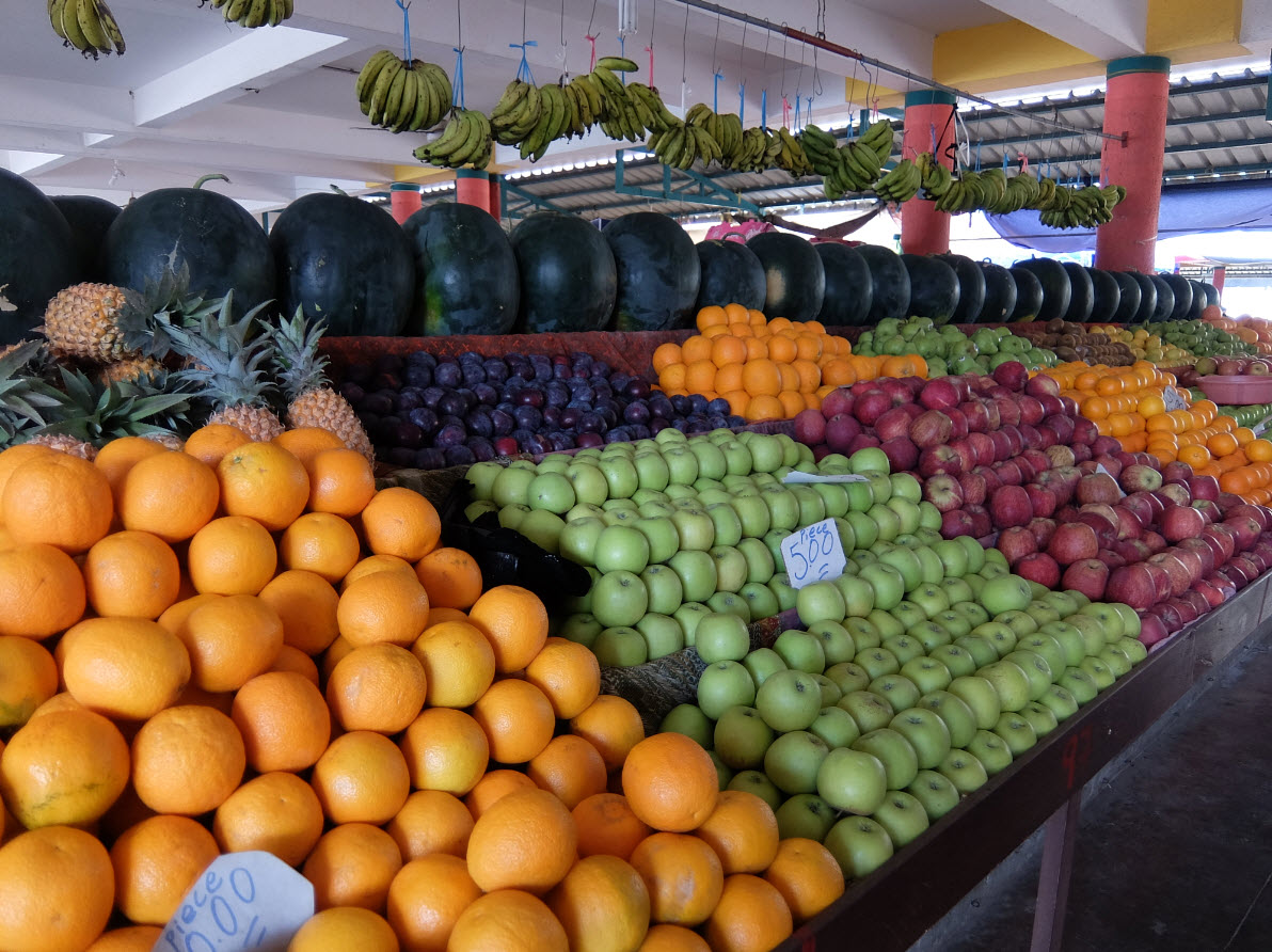 Etals de fruits