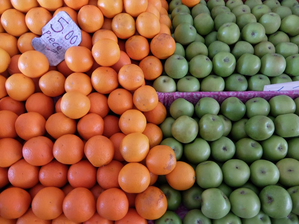 Fruits sur le marché