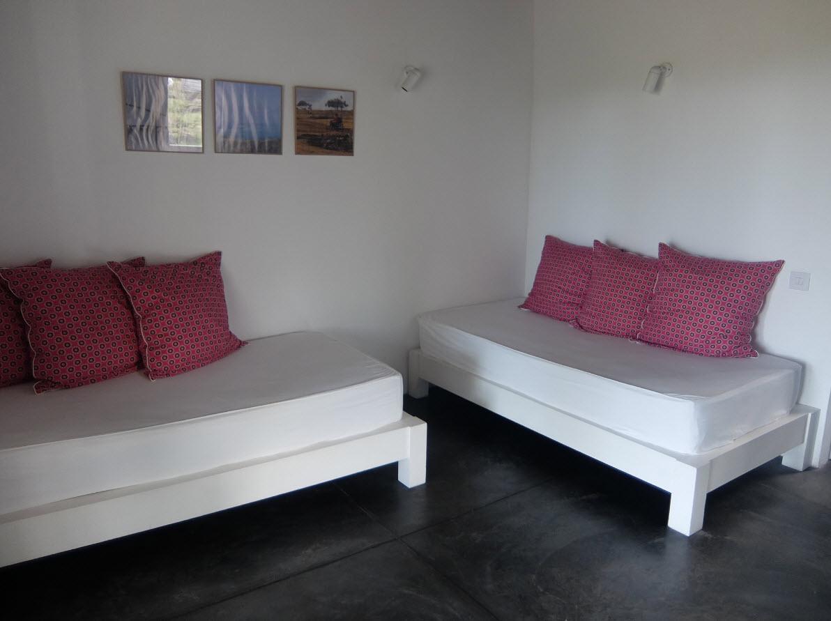 Salon du lodge a Rodrigues