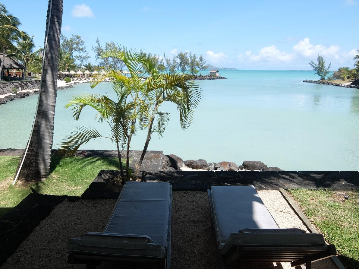 Notre terrasse sur le lagon