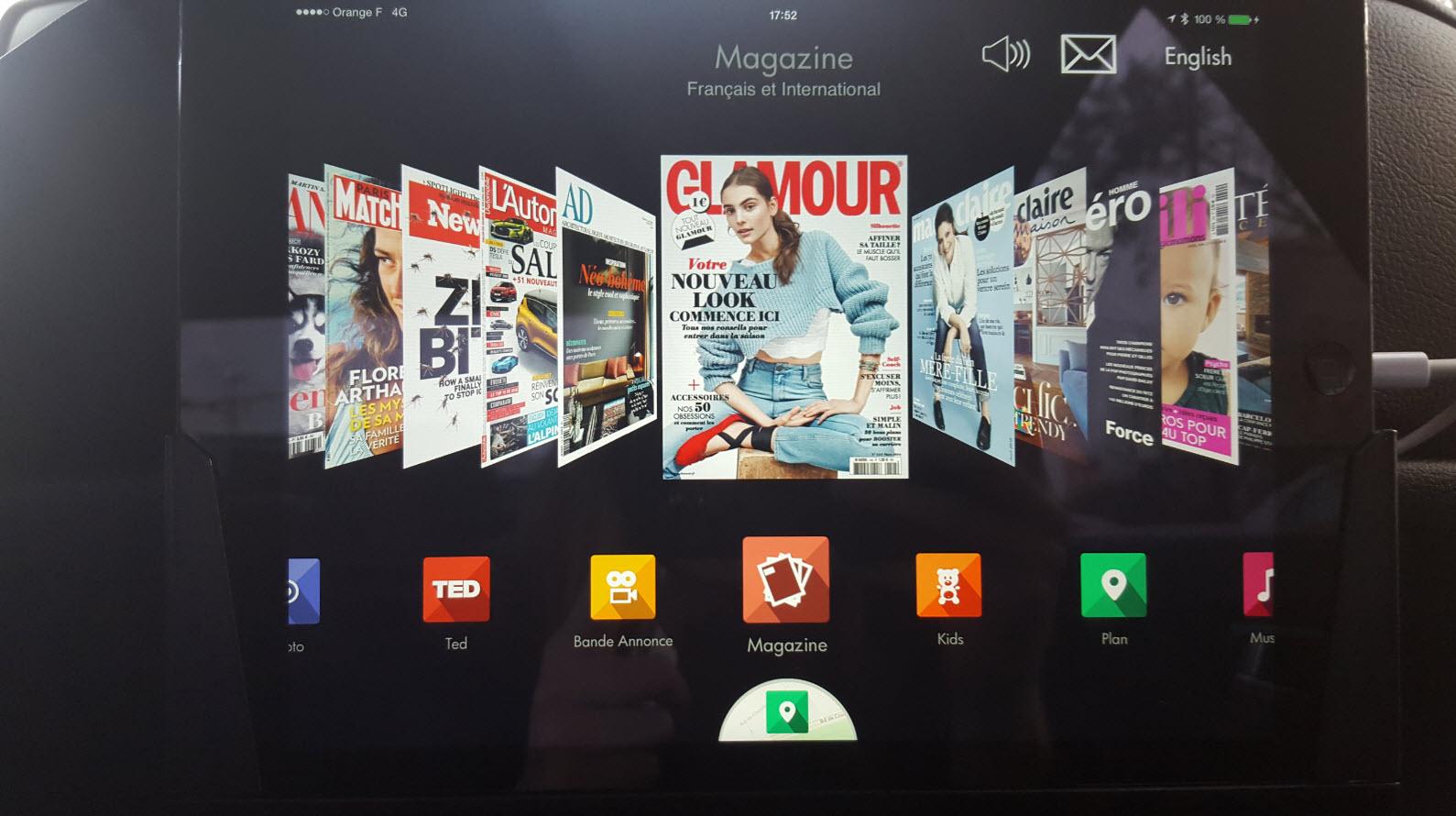 Grand choix de magazine sur Ipad