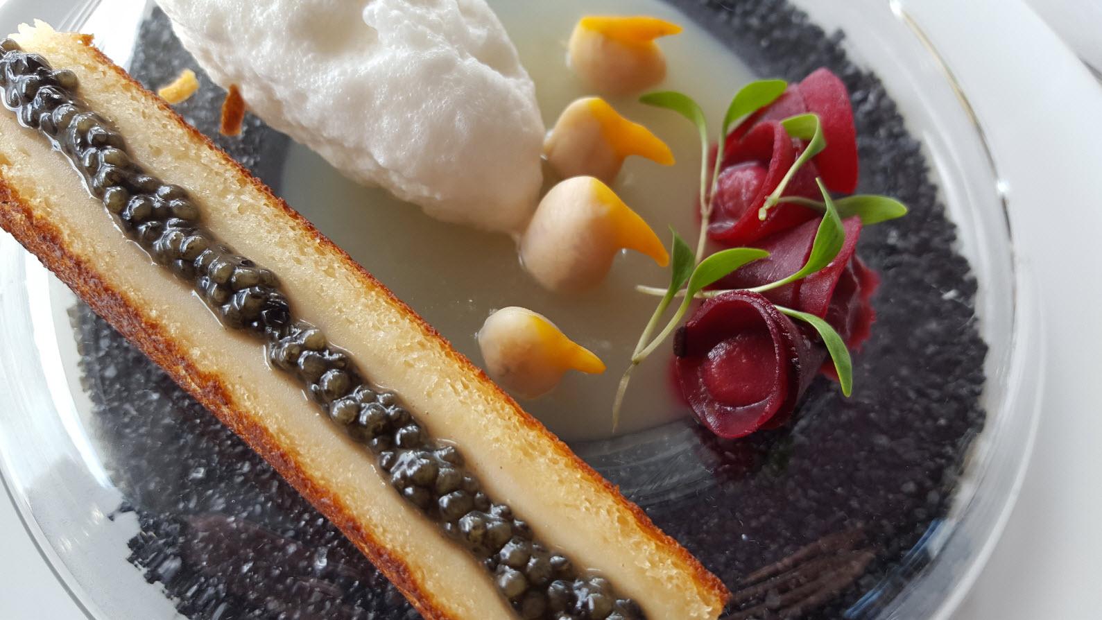 Caviar et coquillages