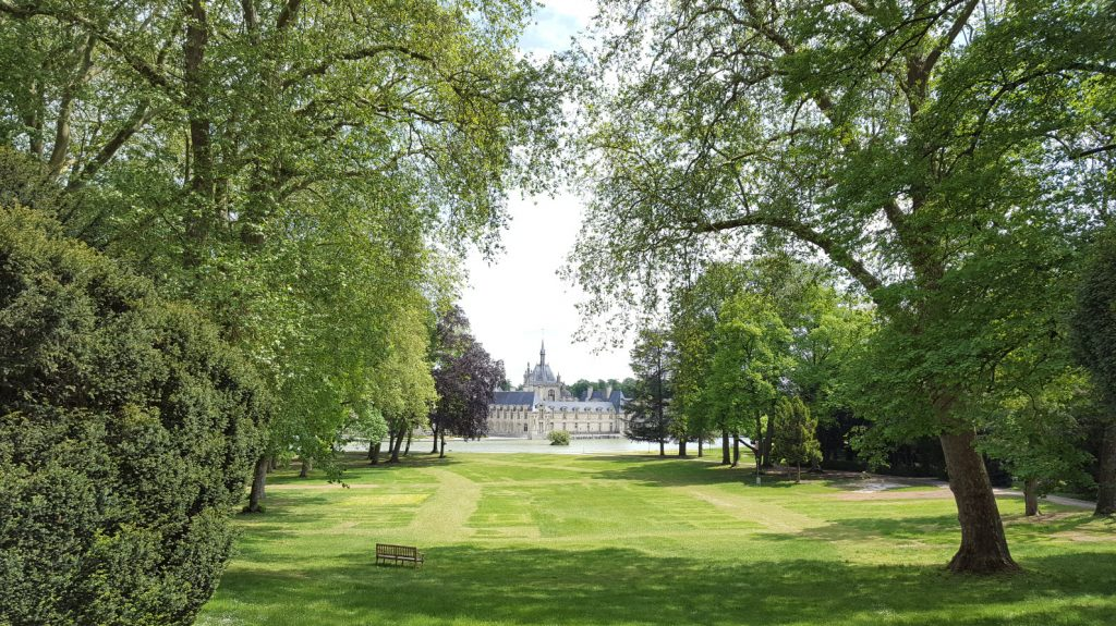 Chateau vue depuis le parc