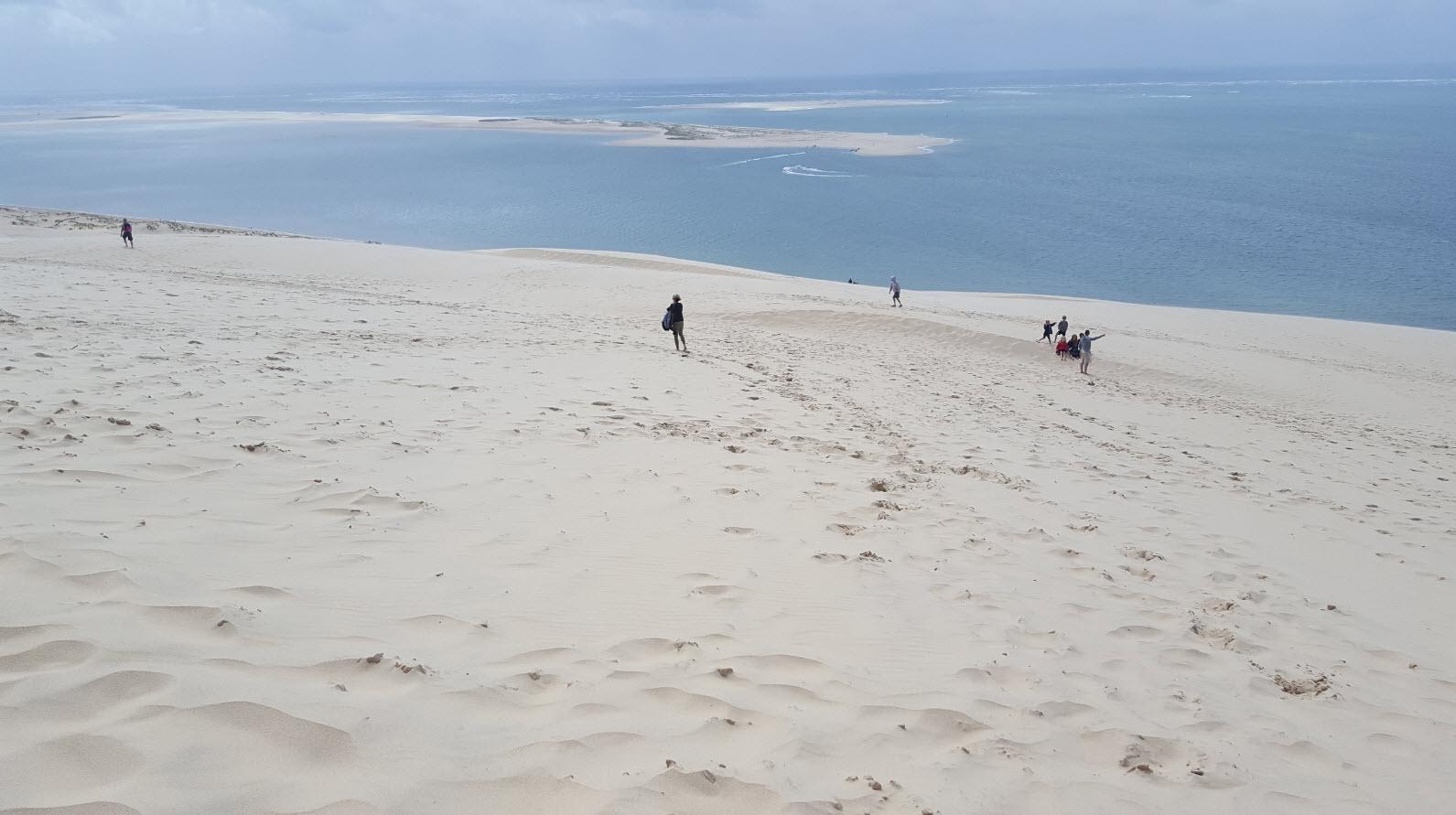 Vue depuis le haut de la dune du pyla