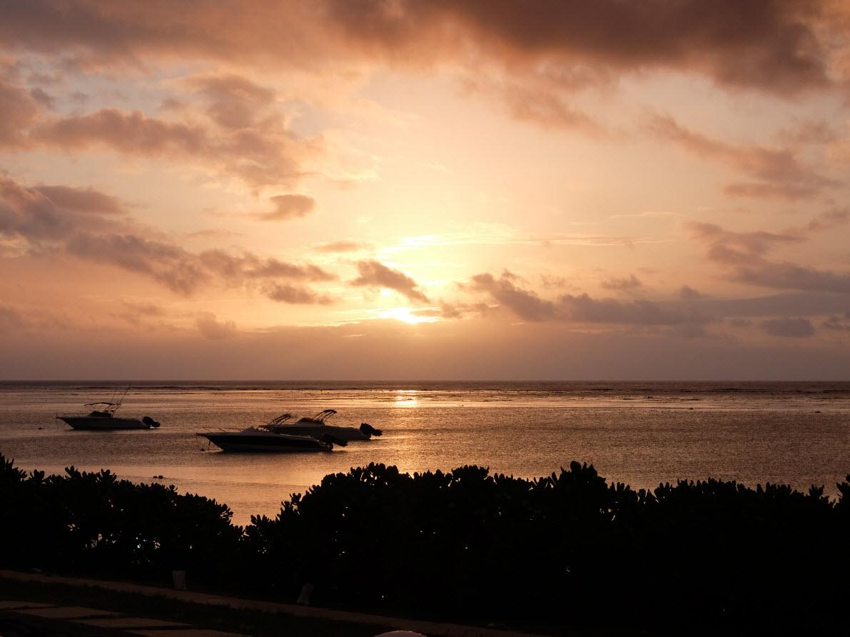 Voir le soleil se coucher a Maurice