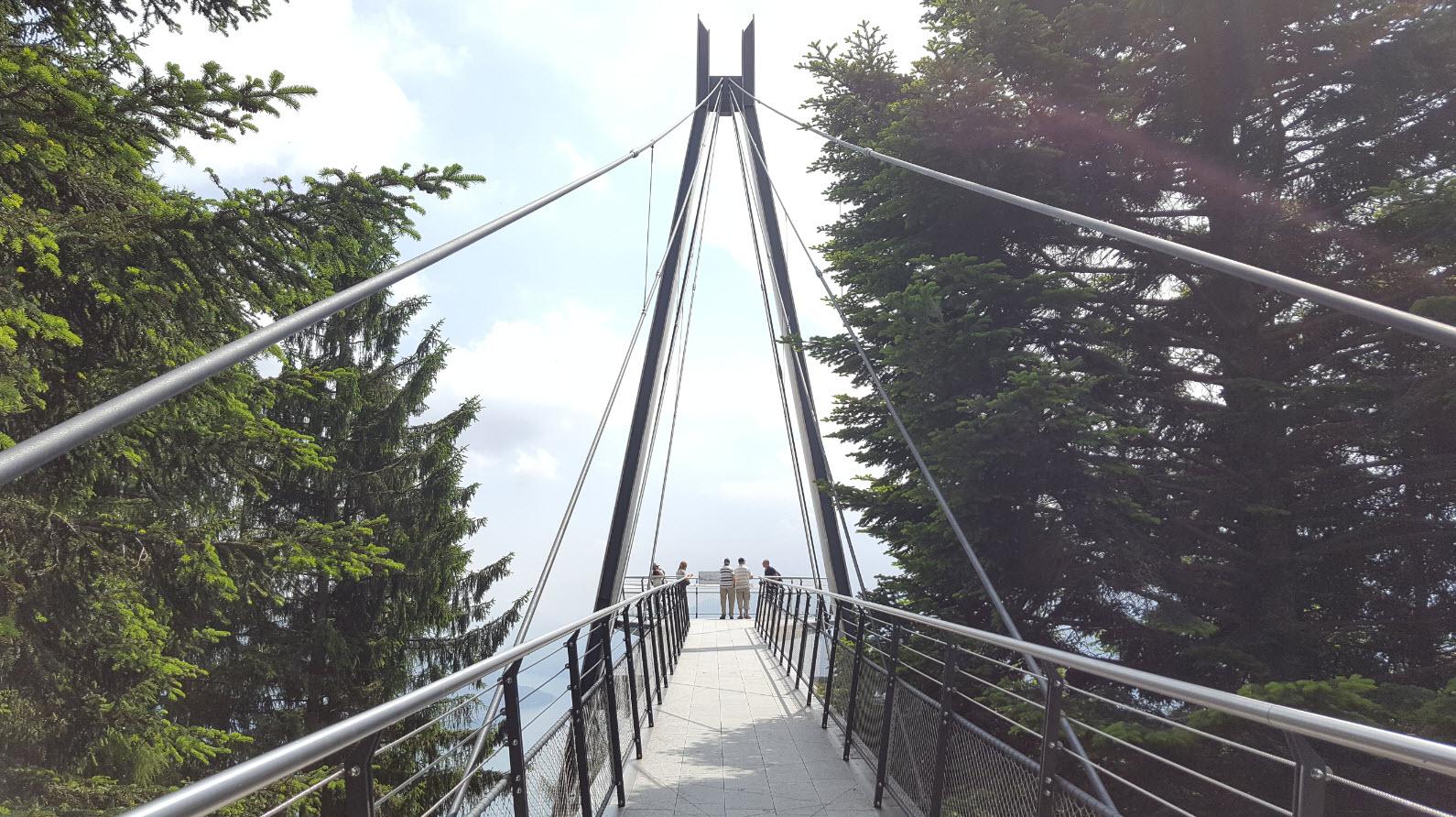 Plateforme panoramique avec vue sur le Lac Majeur et Locarno