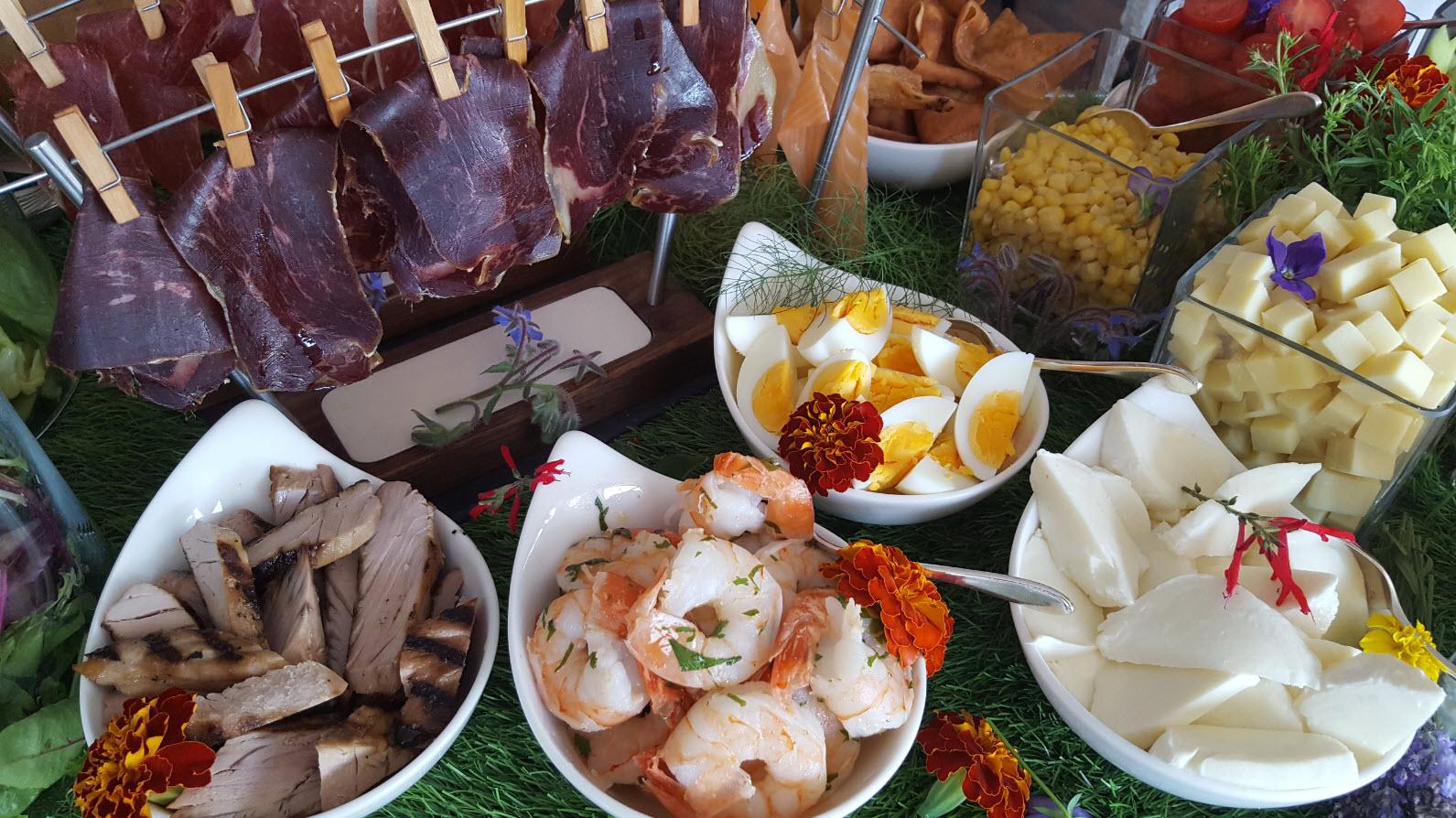 Crevettes et viande sechee