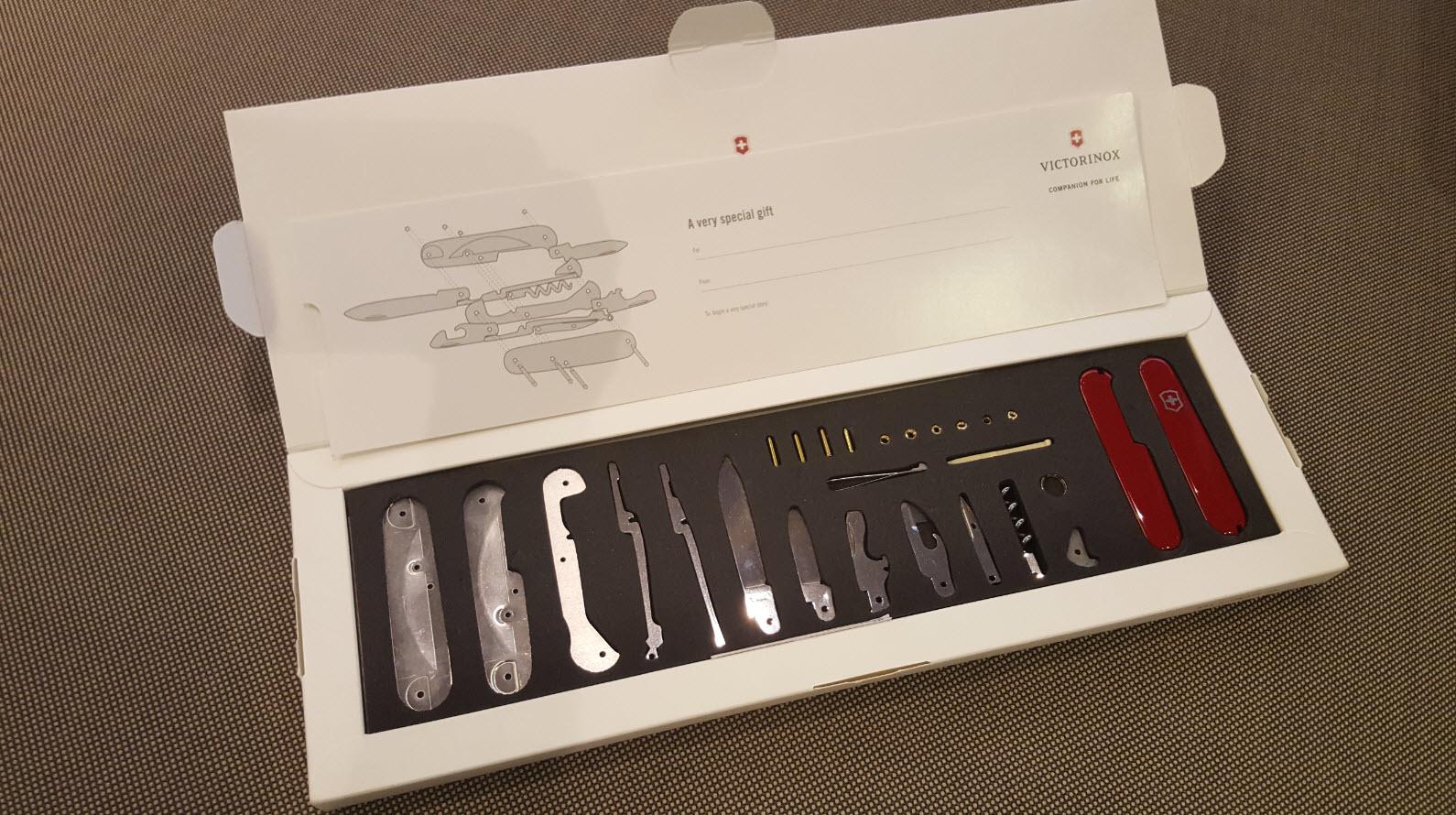 Coffret cadeau montage de couteau