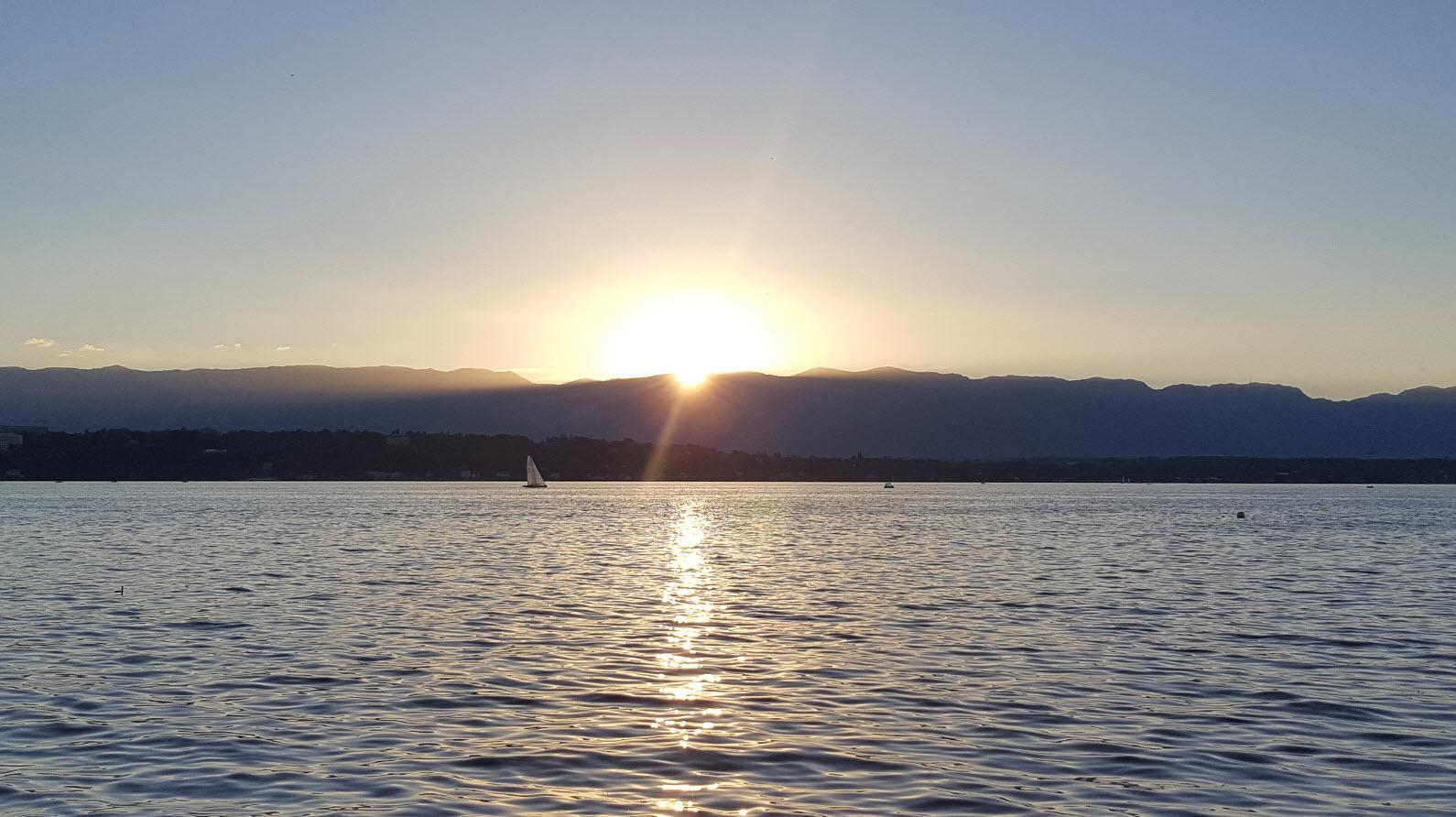 Coucher de soleil Geneve