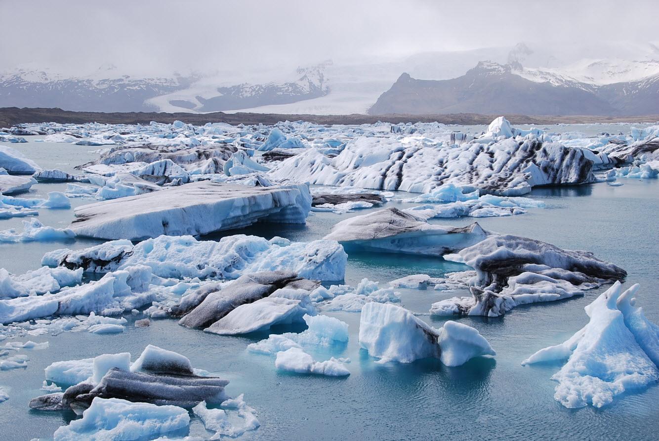 Icebergs Islande vers glacier